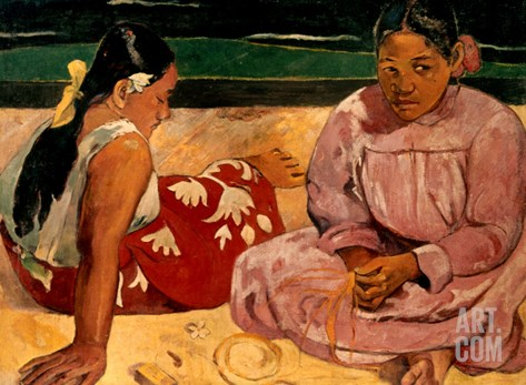 Gauguin: Tahiti Women, 1891 Stretched Canvas Print