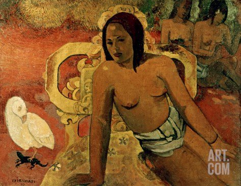Gauguin: Vairumati, 1897 Stretched Canvas Print