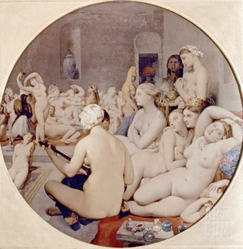Ingres: Turkish Bath Stretched Canvas Print