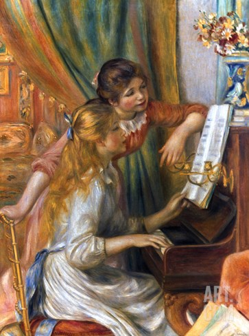 Renoir: Girls/Piano, 1892 Stretched Canvas Print