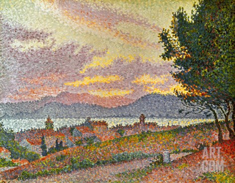 Signac: St Tropez, 1896 Stretched Canvas Print