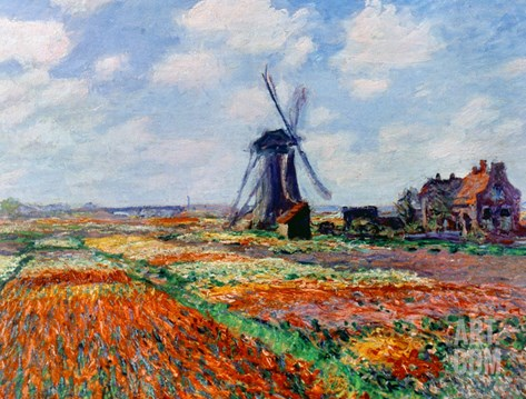 Monet: Tulip Fields, 1886 Stretched Canvas Print