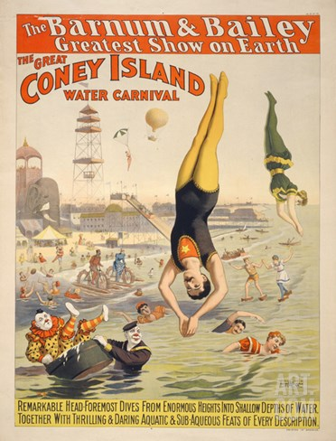 Coney Island Carnival, 1898 Stretched Canvas Print