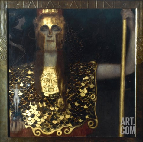 Klimt: Pallas Athena, 1898 Stretched Canvas Print