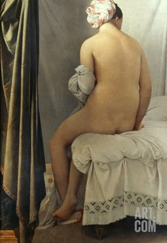 Ingres: Bather, 1808 Stretched Canvas Print