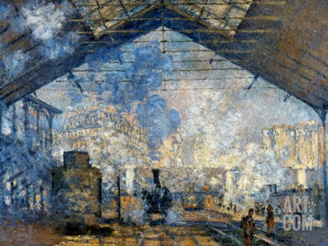 Monet: Gare St-Lazare, 1877 Stretched Canvas Print