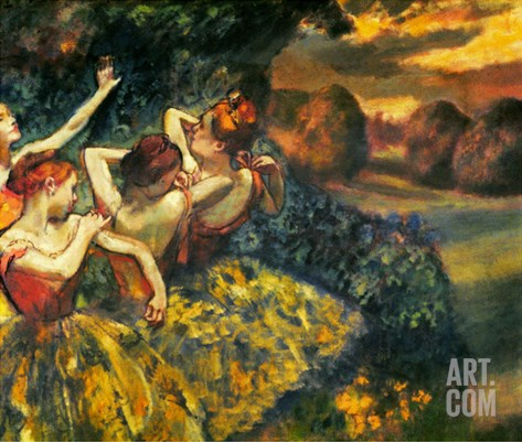 Degas: Four Dancers, C1899 Stretched Canvas Print