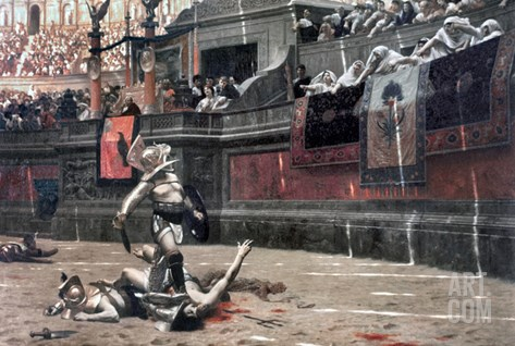 Gerome: Gladiators, 1874 Stretched Canvas Print