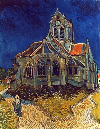 Van Gogh: Church, 1890 Stretched Canvas Print