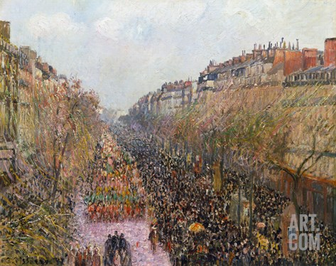 Pissarro: Mardi Gras, 1897 Stretched Canvas Print