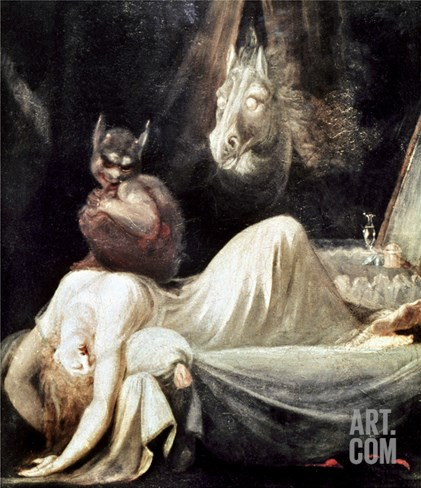 Fuseli: Nightmare, 1781 Stretched Canvas Print
