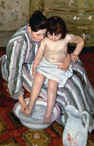 Cassatt: The Bath, 1891-2 Stretched Canvas Print