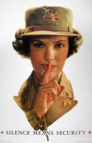 WWII: Careless Talk Poster Stretched Canvas Print
