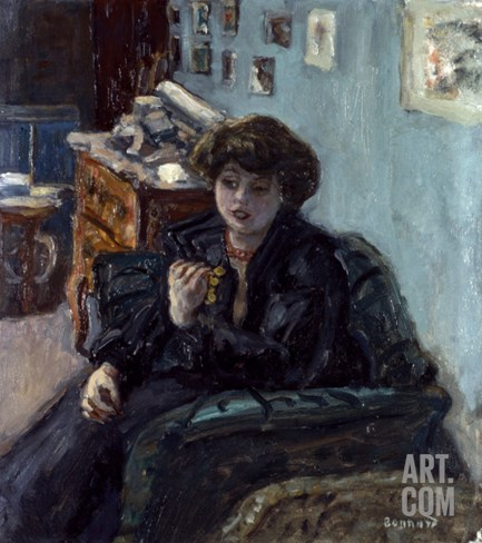 Bonnard: Lady, 19Th C Stretched Canvas Print