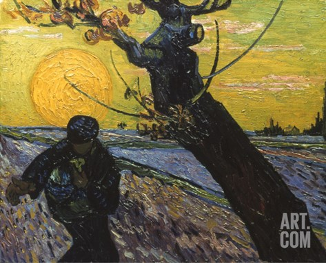 Van Gogh: Sower, 1888 Stretched Canvas Print
