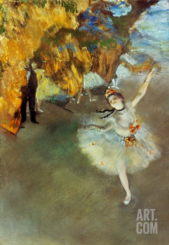 Degas: Star, 1876-77 Stretched Canvas Print
