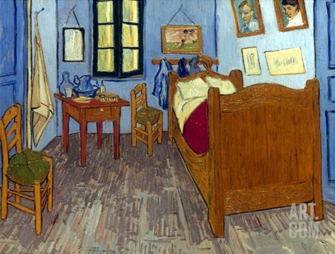 Van Gogh: Bedroom, 1889 Stretched Canvas Print