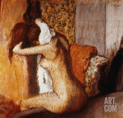 Degas: After The Bath Stretched Canvas Print