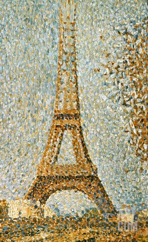Seurat: Eiffel Tower, 1889 Stretched Canvas Print