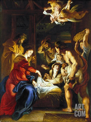 Rubens: Adoration, C1608 Stretched Canvas Print