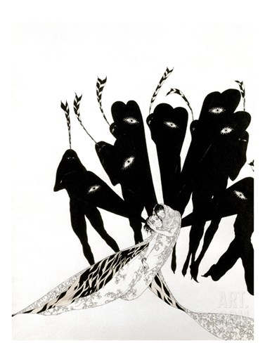 Beardsley: Salome Stretched Canvas Print