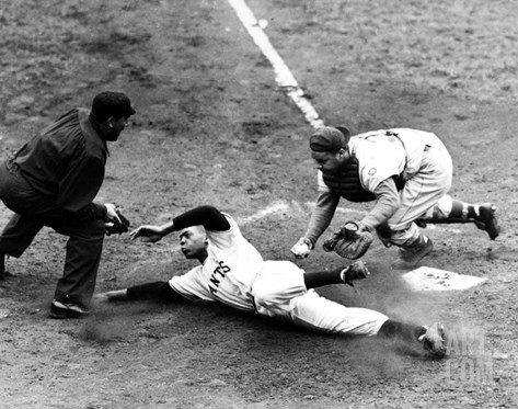 Willie Mays (1931- ) Stretched Canvas Print
