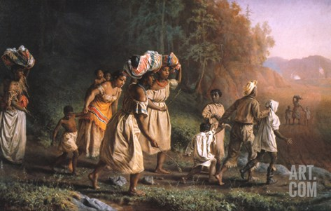 Fugitive Slaves, 1867 Stretched Canvas Print