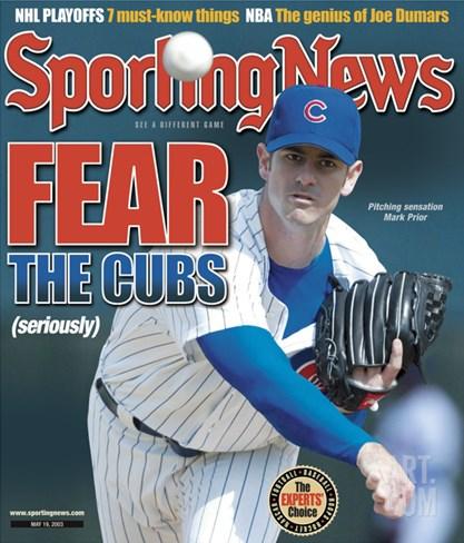 Chicago Cubs Pitcher Mark Prior - May 19, 2003 Stretched Canvas Print