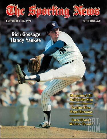 New York Yankees P Rich Gossage - September 30, 1978 Stretched Canvas Print