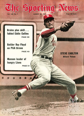 St. Louis Cardinals P Steve Carlton - August 30, 1969 Stretched Canvas Print