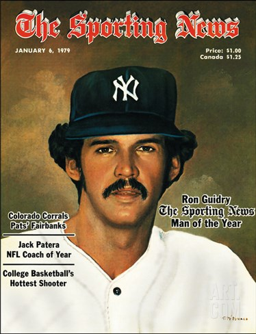 New York Yankees Pitcher Ron Guidry - January 6, 1979 Stretched Canvas Print