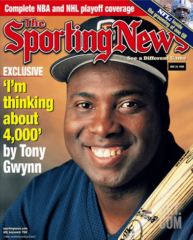San Diego Padres RF Tony Gwynn - May 24, 1999 Stretched Canvas Print
