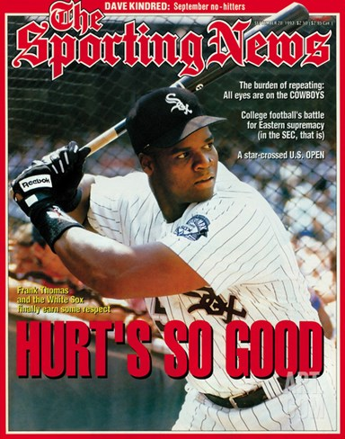 Chicago White Sox 1B Frank Thomas - September 20, 1993 Stretched Canvas Print