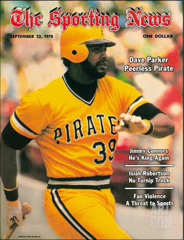 Pittsburgh Pirates RF Dave Parker - September 23, 1978 Stretched Canvas Print
