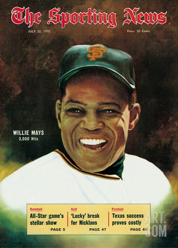 San Francisco Giants OF Willie Mays - July 25, 1970 Stretched Canvas Print