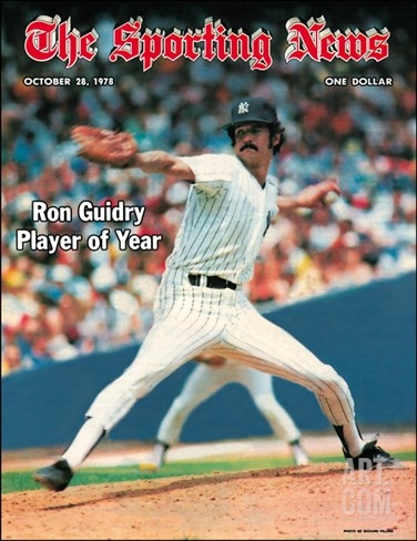 New York Yankees P Ron Guidry - October 28, 1978 Stretched Canvas Print
