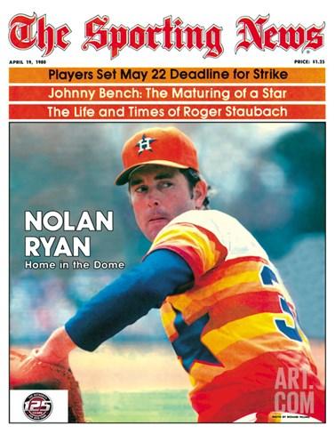 Houston Astros P Nolan Ryan - April 19, 1980 Stretched Canvas Print