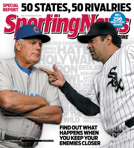 Chicago's Lou Piniella and Ozzie Guillen - May 11, 2009 Stretched Canvas Print