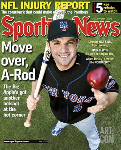 New York Mets 3B David Wright - June 9, 2006 Stretched Canvas Print