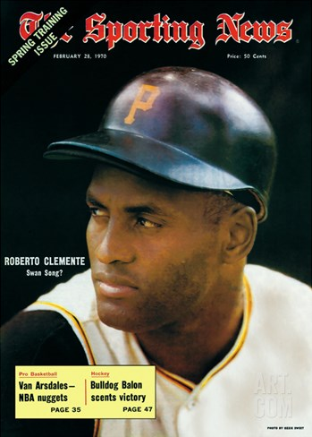 Pittsburgh Pirates RF Roberto Clemente - February 28, 1970 Stretched Canvas Print