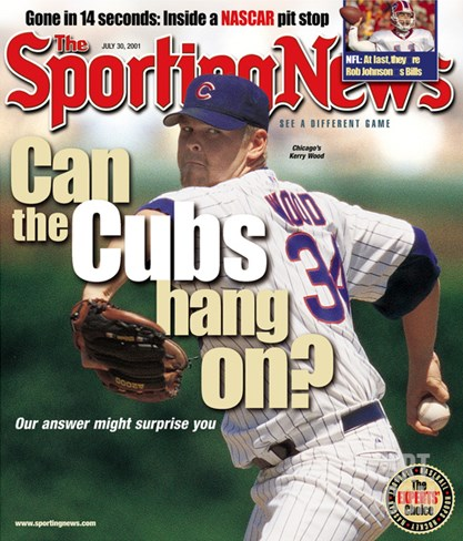 Chicago Cubs P Kerry Wood - July 30, 2001 Stretched Canvas Print