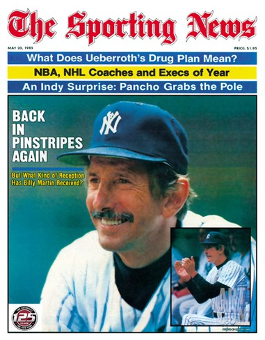 New York Yankees Manager Billy Martin - May 20, 1985 Stretched Canvas Print