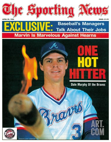 Atlanta Braves OF Dale Murphy - April 29, 1985 Stretched Canvas Print