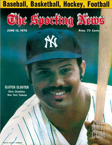 New York Yankees 1B Chris Chambliss - June 12, 1976 Stretched Canvas Print