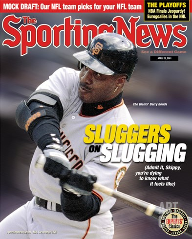 San Francisco Giants OF Barry Bonds - April 23, 2001 Stretched Canvas Print