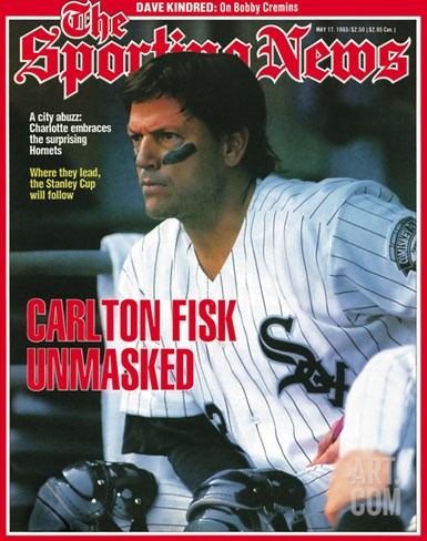 Chicago White Sox C Carlton Fisk - May 17, 1993 Stretched Canvas Print
