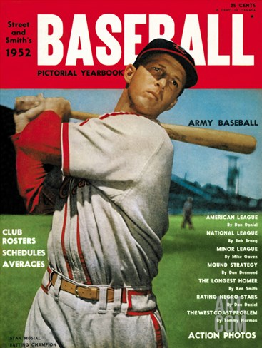 Sporting News Magazine, 1952 - Stan Musial - Batting Champion Stretched Canvas Print