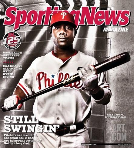 Philadelphia Phillies' Ryan Howard - July 4, 2011 Stretched Canvas Print