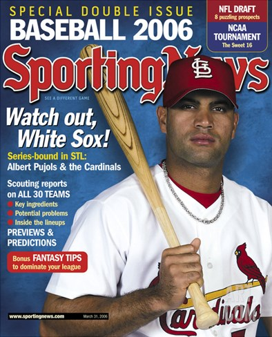 St. Louis Cardinals 1B Albert Pujols - March 31, 2006 Stretched Canvas Print