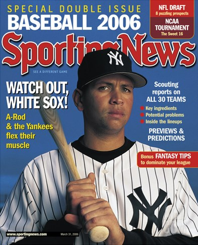 New York Yankees 3B Alex Rodriguez - March 31, 2006 Stretched Canvas Print